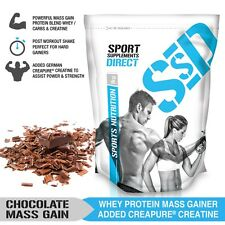 1KG CHOCOLATE MASS GAINER - 1:1 WHEY PROTEIN CARB RATIO MASS GAIN WITH CREAPURE