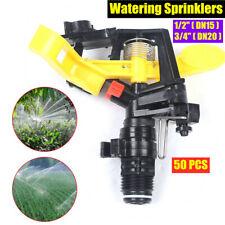 "50Pcs 1/2"",3/4"" Garden Farm Lawn Watering Spray Nozzles Irrigation Sprinklers"