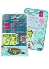 Vintage De Viaje Retro De Diseño De Sello etiqueta del equipaje Correas X 2 Vacaciones Viaje Maleta