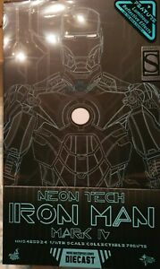 Hot Toys Iron Man Neon Tech Mark IV 2018 ToyFair Exclusive Die Cast 1/6 Figure