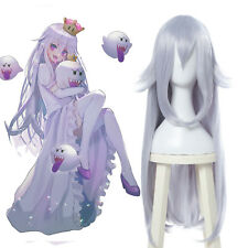 Boosette Booette Princess Teresa Cosplay Wig Silver White Long Straight Hair