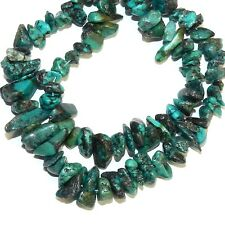 NG2475f Dark Blue-Green Turquoise Small 4-8mm Pebble Chip Gemstone Beads 15""