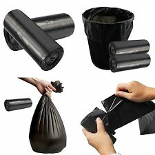 Rubbish Garbage Bin Liners Kitchen Toilet Black Waste Trash 50x60cm Bags Black