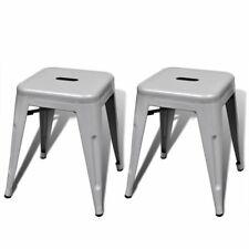 2 stapelbare krukken (grijs) kruk krukje krukkenset stapelbaar metaal staal