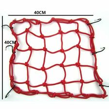 40cm x 40cm Red Motorcycle Rear Luggage Cover Cargo Net Bungee Carrier