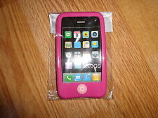iPhone 3G 3GS  Silicone Rubber Case Cover. PINK