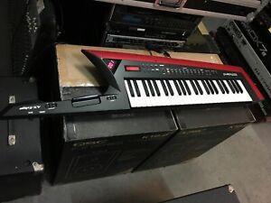 Roland AX-Edge Red/BLACK Keytar w/White keys keyboard Customized SLVR //ARMENS//