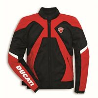 New Ducati Summer Mesh Textile Motorcycle Jacket Red Black by Spidi
