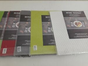 Set Of 6 Woven PVC Placemats SQUARE Dining Table SETTING DECO Place Mats 35x35cm