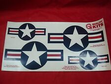 Decal Sheet 2 Global Quality Kits Cutlass 45 RC Model Airplane Stars and Bars