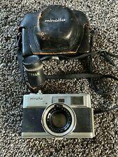 Minolta 35mm Film Camera Hi-Matic 7s with Rokkor-PF 1:1.8 45mm w/LEATHER CASE