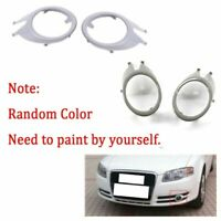 Front Fog Light Lamp Grille Cover For Audi A4 B7 S4 05-08 Pair Cabriolet Sedan
