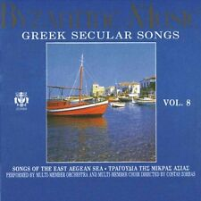 Greek Secular Songs Byzantine Music, Vol. 8 CD NEW! With Free Shipping