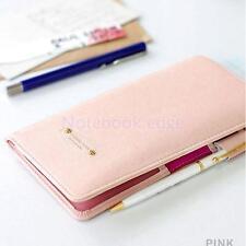 Journey Travel Passport Holder Wallet Purse Card Organizer Bag Case Pink
