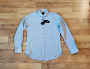 "HUGO BOSS slim fit LARGE ""Ridley_53"" BRAND NEW long sleeve shirt"