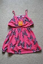 Gymboree Girls' Pink Butterfly Sleeveless Cotton Dress - Size 6