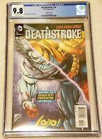 Deathstroke #10 Liefeld Lobo Variant CGC 9.8 NM/MT DC 2012