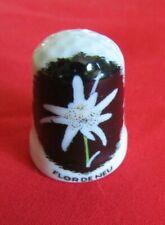 Dé a coudre de collection en porcelaine FLOR DE NEU VAL D'ARAN