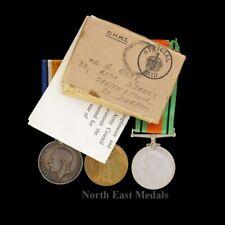 British War & Victory Medal, Defence Medal. Durham Light Infantry & Home Guard