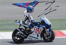 Jorge Lorenzo Firmato a Mano FIAT YAMAHA 12x8 foto MotoGP.