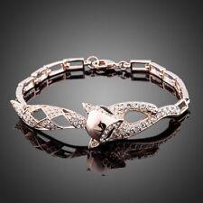 18K Gold GP Made With Swarovski Crystal Elements Fairy Brilliant Bangle Bracelet