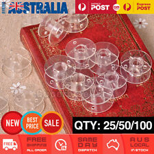 Empty Clear Plastic Bobbins for Sewing Machines Janome Brother Elna Singer AU
