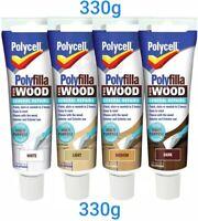 Polycell Polyfilla Interior Exterior Wood Filler White Light Medium or Dark Tube
