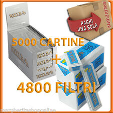 5000 Cartine SILVER CORTE + 4800 Filtri ULTRASLIM 5,5mm RIZLA
