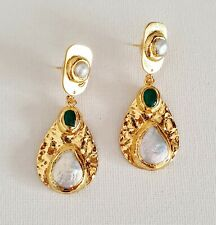 Gold Plated Hammered Freshwater Pearl Disc Stone Earrings Other Bloggers Stories