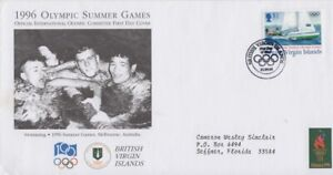 British Virgin Islands - 1996 Summer Olympics First Day Cover - Sailing - Cachet