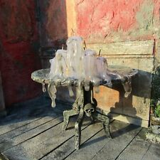 Haunted miniature table Witch dollhouse furniture gothic items Halloween decor