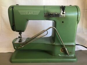 Vintage Elna Supermatic Sewing Machine 722010 with Metal Case