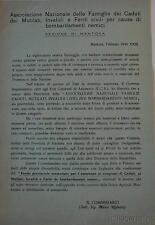RSI MANTOVA  1945-Fondo prov. assistenza vittime bombardamenti
