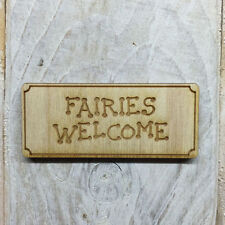 12 Pack Wooden Fairy Welcome Mats Shapes Fairy Door Accessory Code WELCOME MAT