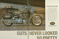 2004 Victory Kingpin - Guts never looked so pretty -2-Page Vintage Motorcycle Ad