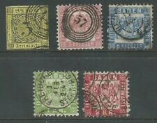 German States Baden 1851-1868 from an old collection good used. (2009)