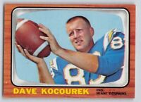 1966 Topps DAVE KOCOUREK - Football Card # 82 - MIAMI DOLPHINS