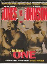 ROY JONES Jr vs REGGIE JOHNSON OFFICIAL ONSITE BOXING PROGRAM JUNE 5, 1999