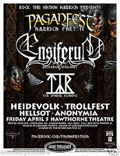 ENSIFERUM /TYR /HEIDEVOLK /TROLLFEST /HELLSOT 2013 PORTLAND CONCERT TOUR POSTER