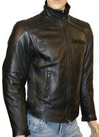 Mens SKINTAN CE ARMOURED LEATHER Motorcycle Racing BIKER JACKET Black NEW