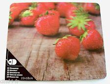 Tapis de souris 3D relief, NEUF / 3D mouse pad, NEW. Theme : Strawberry / Fraise