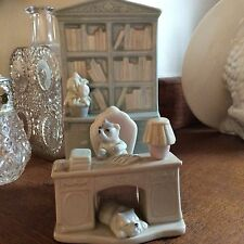 Vintage porcelain bookend  cute dogs playing in library dog retired J C store