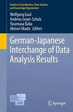 German-Japanese Interchange of Data Analysis Results (2013, Paperback)