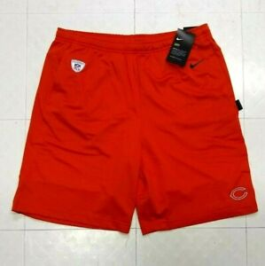 Nike Chicago Bears NFL On Field Team Issued Shorts Mens L Large Dri Fit Orange