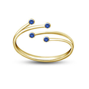 10K Yellow Gold FN 925 Silver Adjustable Toe Ring Bypass Women's Foot Jewellery
