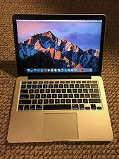 Apple RETINA Macbook Pro 13in 2015 i7, 1TB, low cycles, Applecare 2018