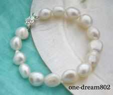 """8"""" 13mm baroque white freshwater pearl bracelet"""