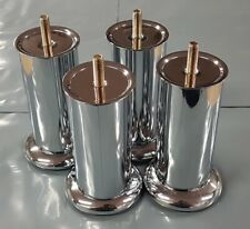 METAL CHROME LEGS FURNITURE FEET FOR SOFAS BEDS CHAIRS STOOLS CABINET Packs