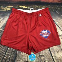 Vintage 90s Champion Philadelphia Phillies Mesh Gym Shorts baseball Mens XL /L