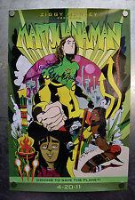 Marijuanaman Jim Mahfood Poster Signed Ziggy Marley Marijuana 24 x 16